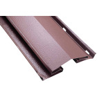 Air Vent 8 Ft. Brown Aluminum Continuous Unfiltered Ridge Vent Image 1