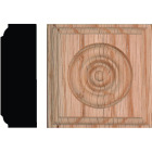 House of Fara 7/8 In. x 2-1/2 In. Unfinished Red Oak Rosette Block Image 1