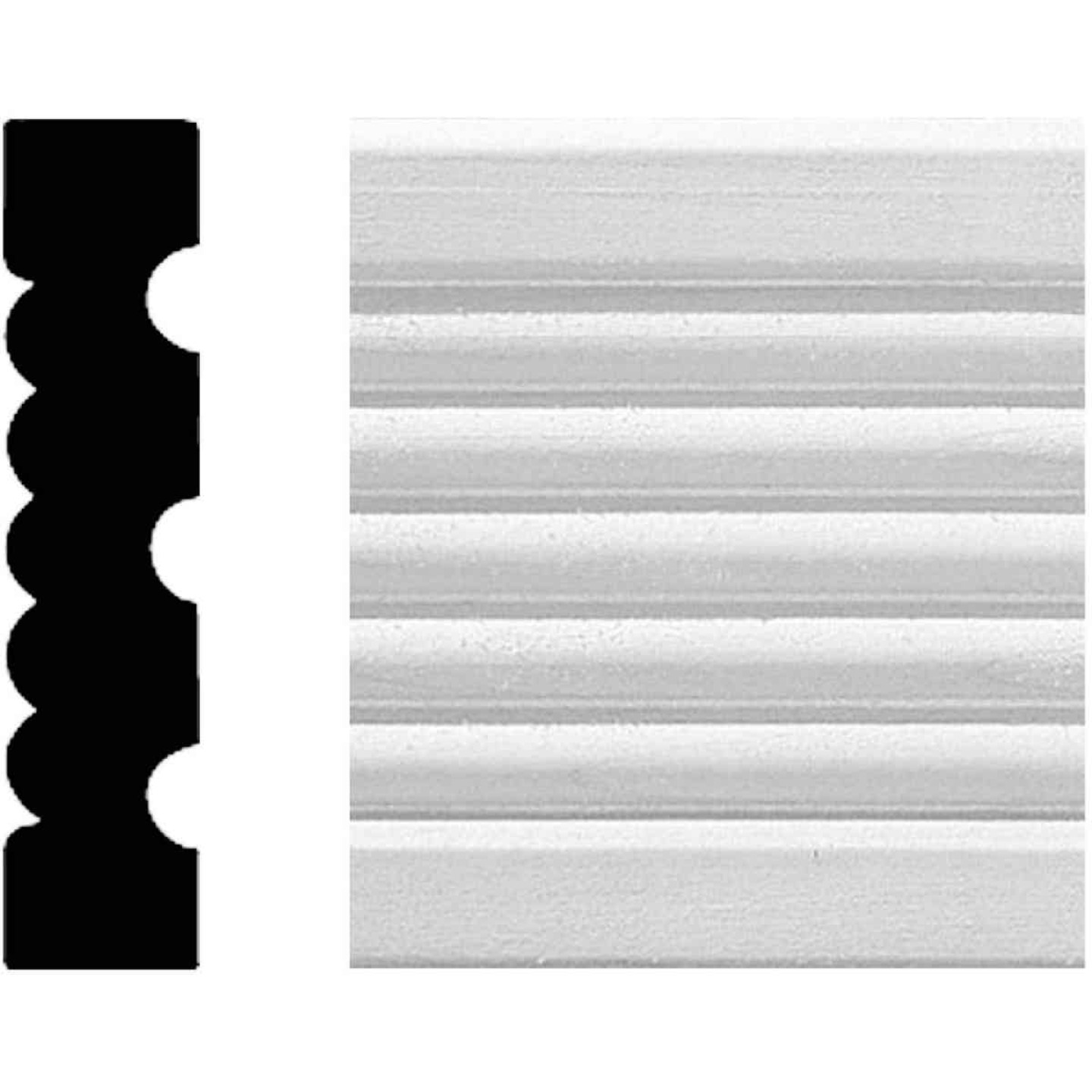 House of Fara 3/4 In. W. x 3-1/4 In. H. x 8 Ft. L. White MDF Fluted Casing Molding Image 1