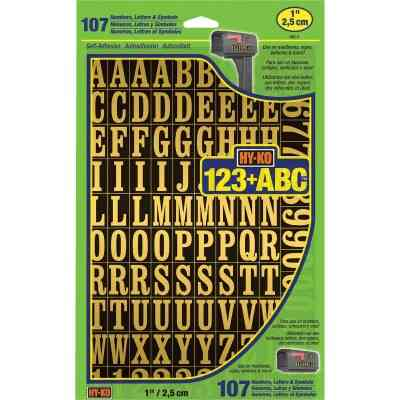 Hy-Ko 1 In. Numbers, Letters & Symbols (107 Count)