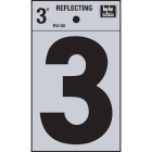 Hy-Ko Vinyl 3 In. Reflective Adhesive Number Three Image 1