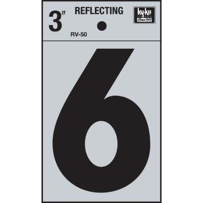 Hy-Ko Vinyl 3 In. Reflective Adhesive Number Six
