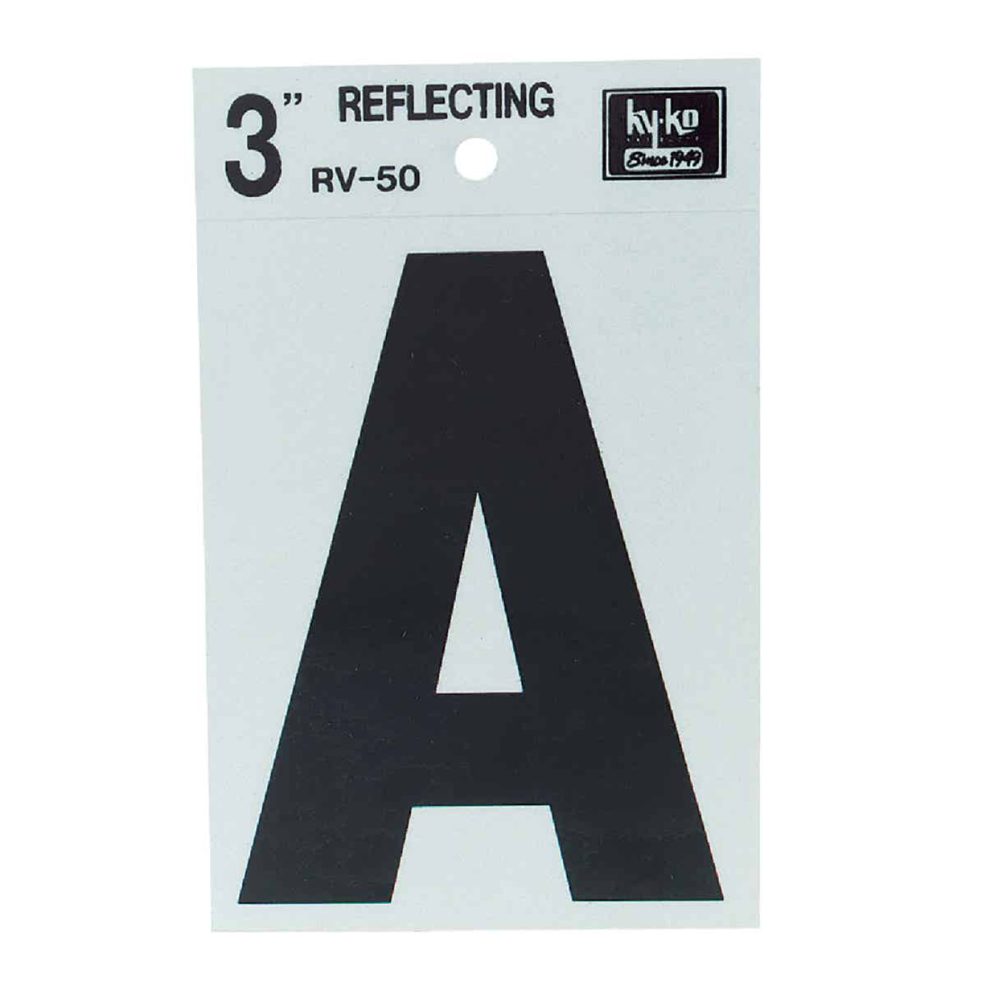 Hy-Ko Vinyl 3 In. Reflective Adhesive Letter, A Image 1
