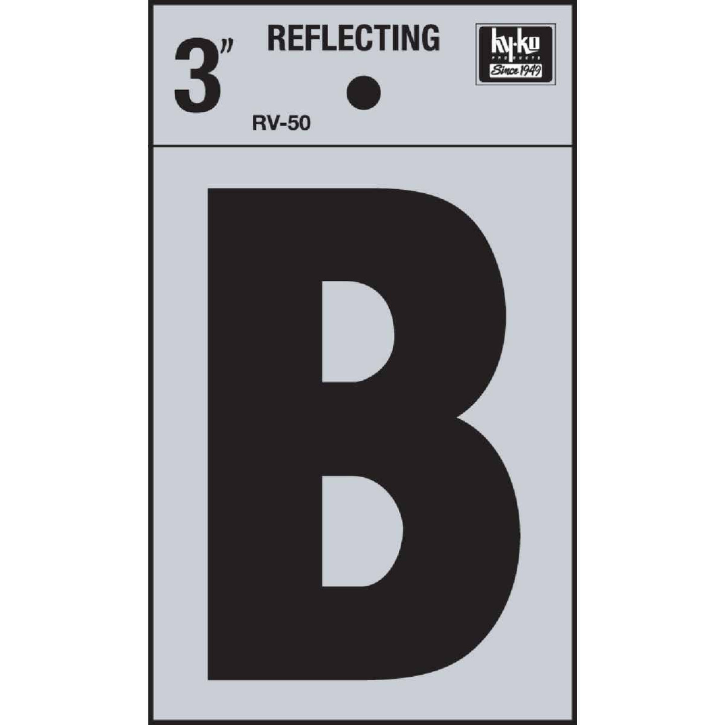 Hy-Ko Vinyl 3 In. Reflective Adhesive Letter, B Image 1