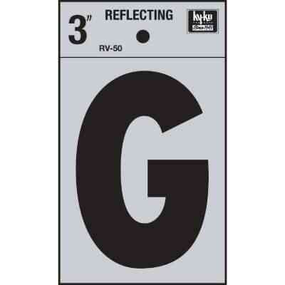 Hy-Ko Vinyl 3 In. Reflective Adhesive Letter, G