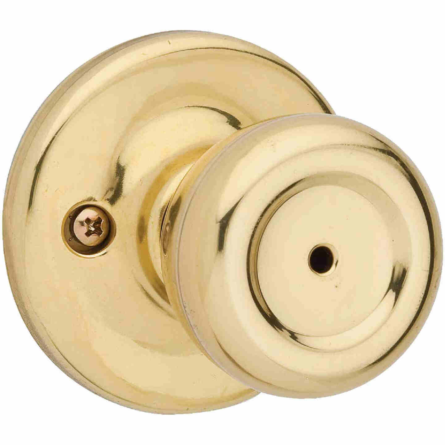 Kwikset Tylo Polished Brass/Satin Chrome Bed & Bath Door Knob Image 1