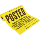 Hy-Ko Tyvek Sign, Posted Legal Private Property, Roll of 100 Image 1