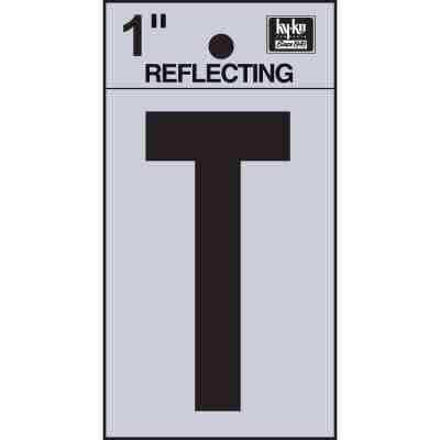 Hy-Ko Vinyl 1 In. Reflective Adhesive Letter, T