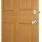 Kwikset Signature Series Chelsea Satin Nickel Entry Door Handleset with Smartkey & Cameron Knob Image 3
