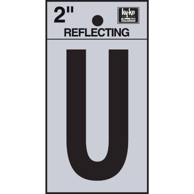 Hy-Ko Vinyl 2 In. Reflective Adhesive Letter, U
