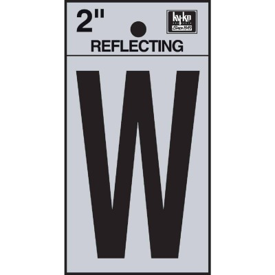 Hy-Ko Vinyl 2 In. Reflective Adhesive Letter, W