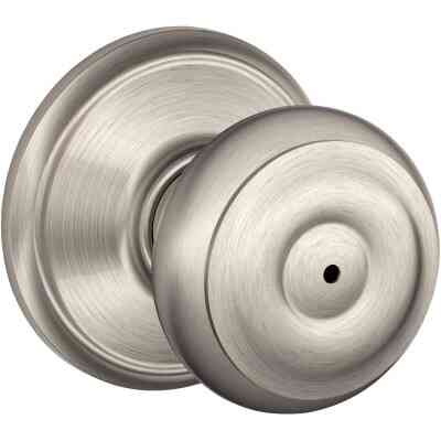 Schlage Georgian Satin Nickel Bed & Bath Door Knob