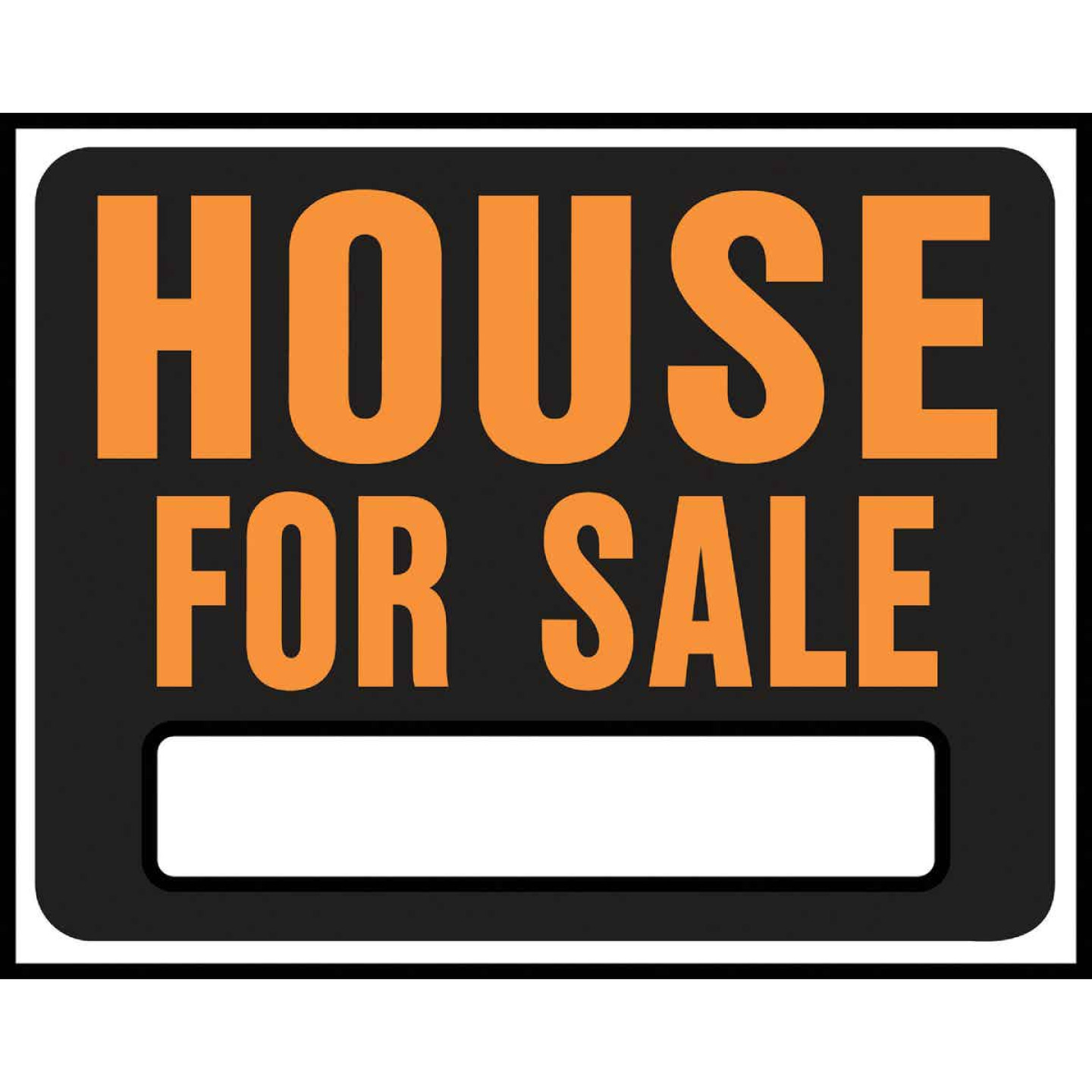 Hy-Ko Heavy Gauge Plastic Sign, House For Sale Image 1