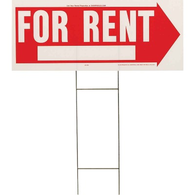 Hy-Ko Corrugated Plastic Sign, For Rent