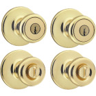 Kwikset Polished Brass Door Knob Combo Image 1
