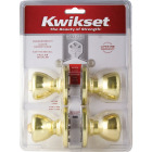 Kwikset Polished Brass Door Knob Combo Image 2