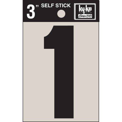 Hy-Ko Vinyl 3 In. Non-Reflective Adhesive Number One