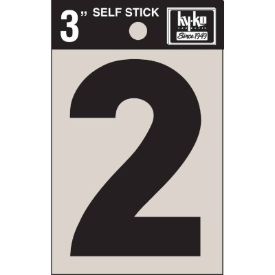 Hy-Ko Vinyl 3 In. Non-Reflective Adhesive Number Two