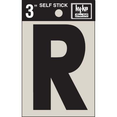 Hy-Ko Vinyl 3 In. Non-Reflective Adhesive Letter, R