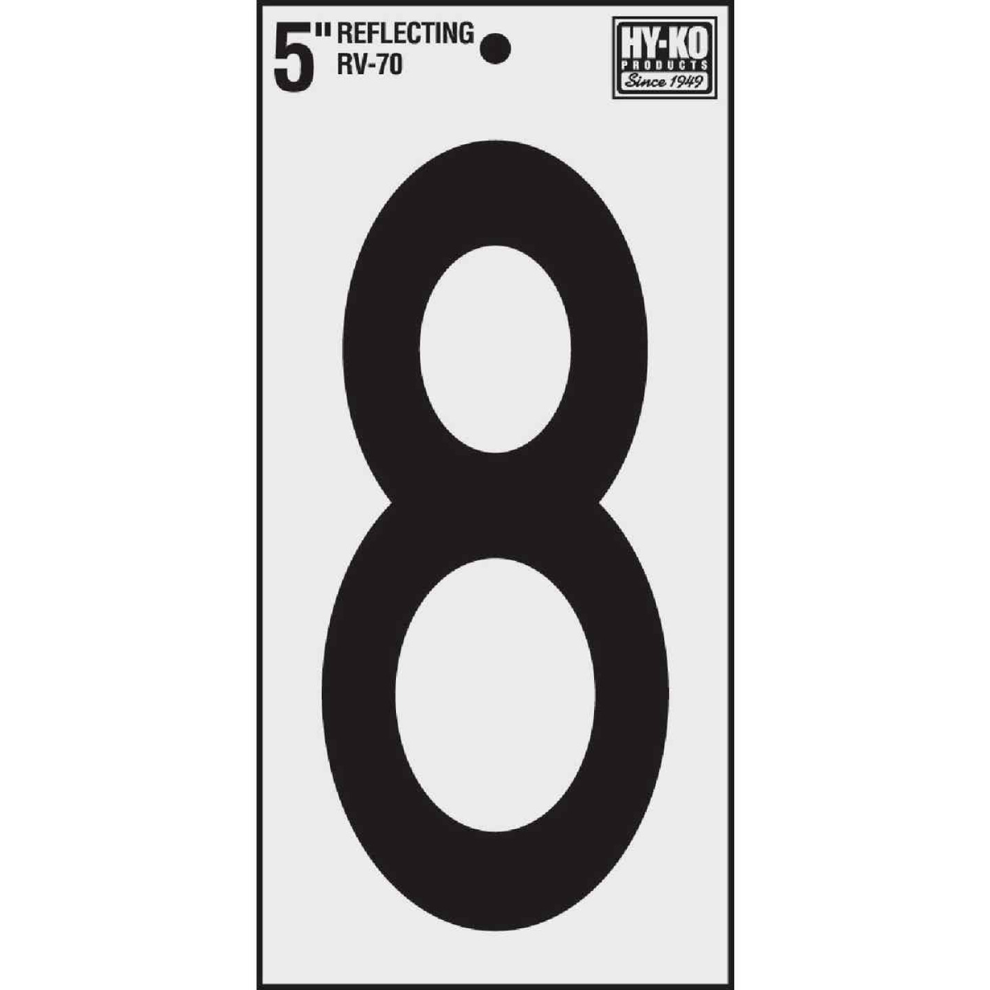 Hy-Ko Vinyl 5 In. Reflective Adhesive Number Eight Image 1