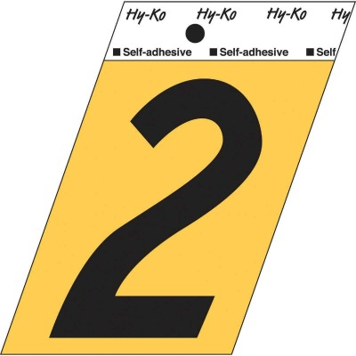 Hy-Ko Aluminum 3-1/2 In. Non-Reflective Adhesive Number Two