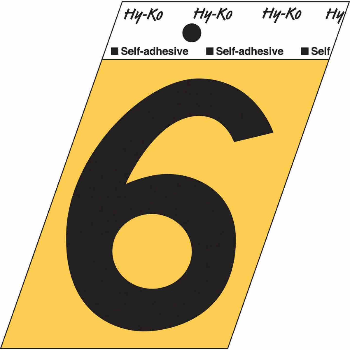 Hy-Ko Aluminum 3-1/2 In. Non-Reflective Adhesive Number Six Image 1