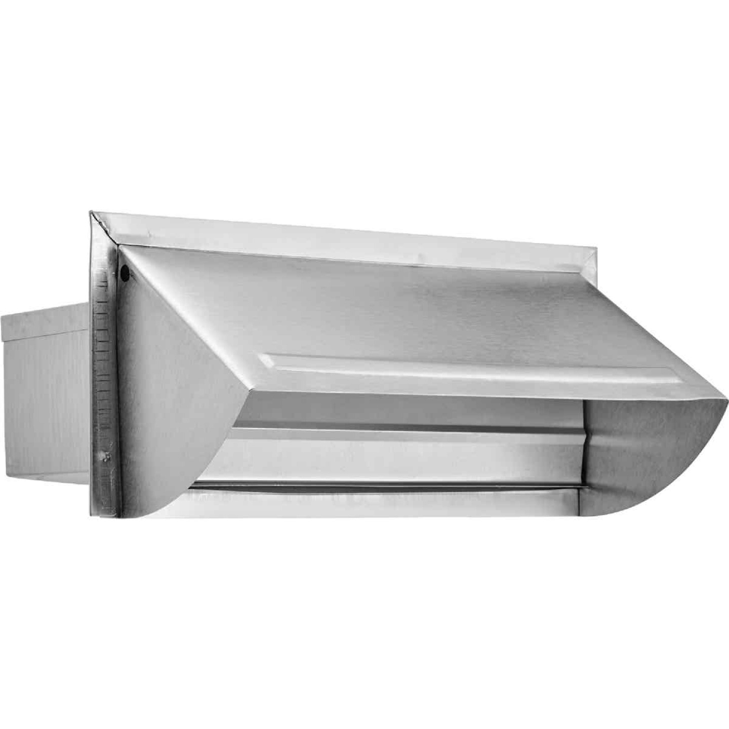 Lambro 3-1/4 In. x 10 In. Mill Finish Aluminum Kitchen Wall Vent Cap Image 1