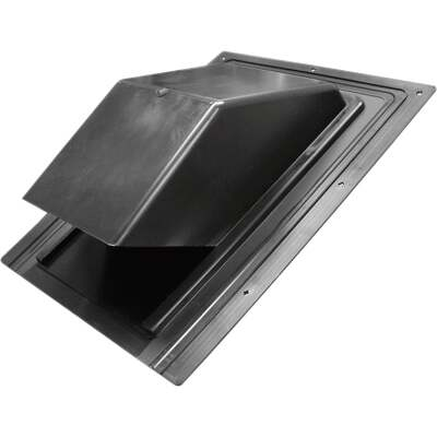 Lambro 7 In. Black Plastic Roof Vent Cap for Range Hood Vent