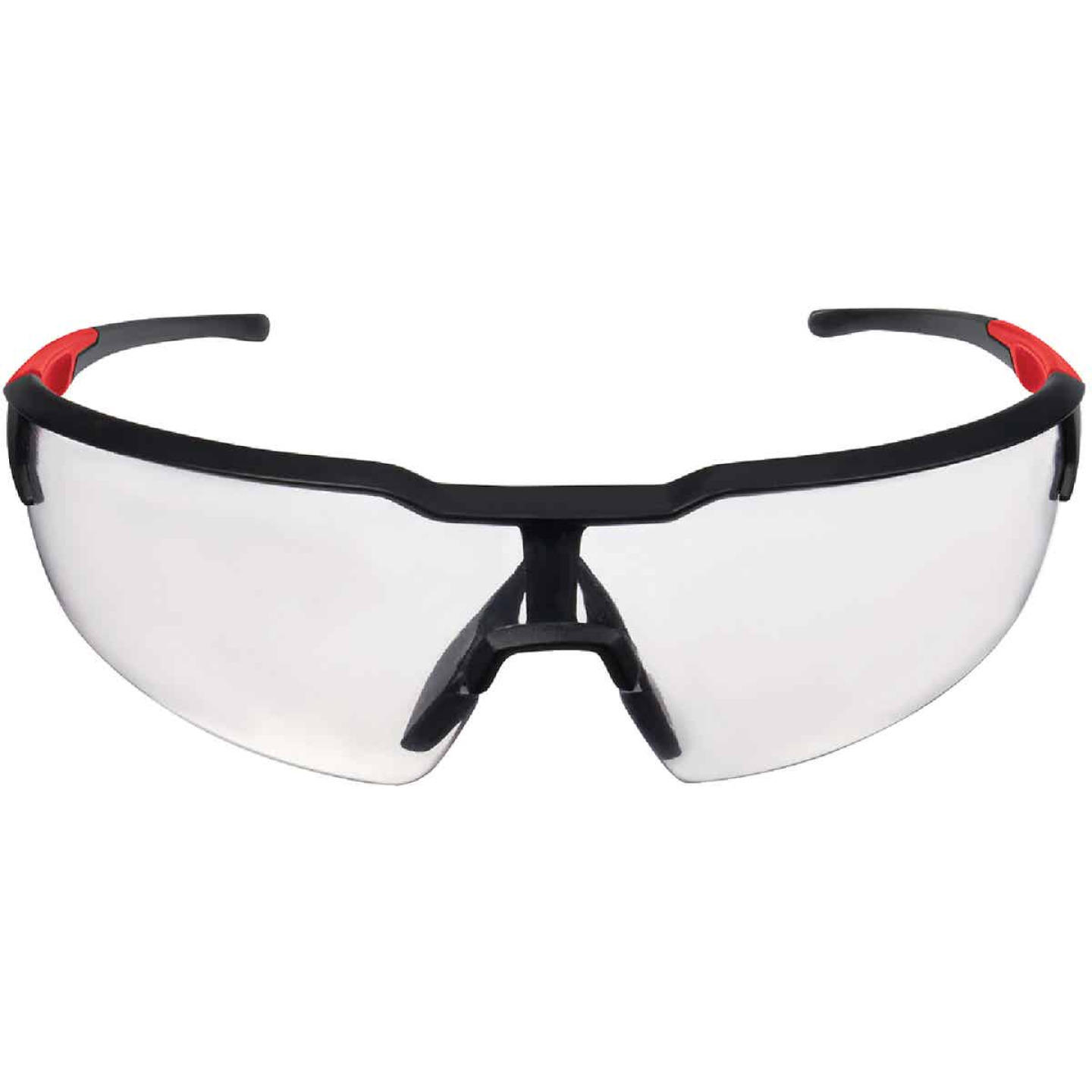 Milwaukee Red & Black Frame Safety Glasses with Clear Fog-Free Lenses Image 4