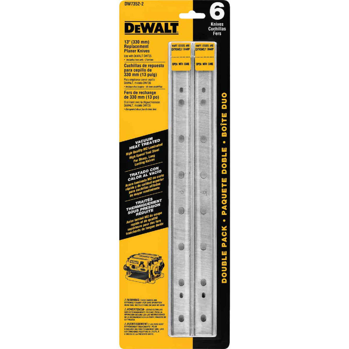 DeWalt 13 In. High Speed Steel Planer Blade (3-Pack) Image 2