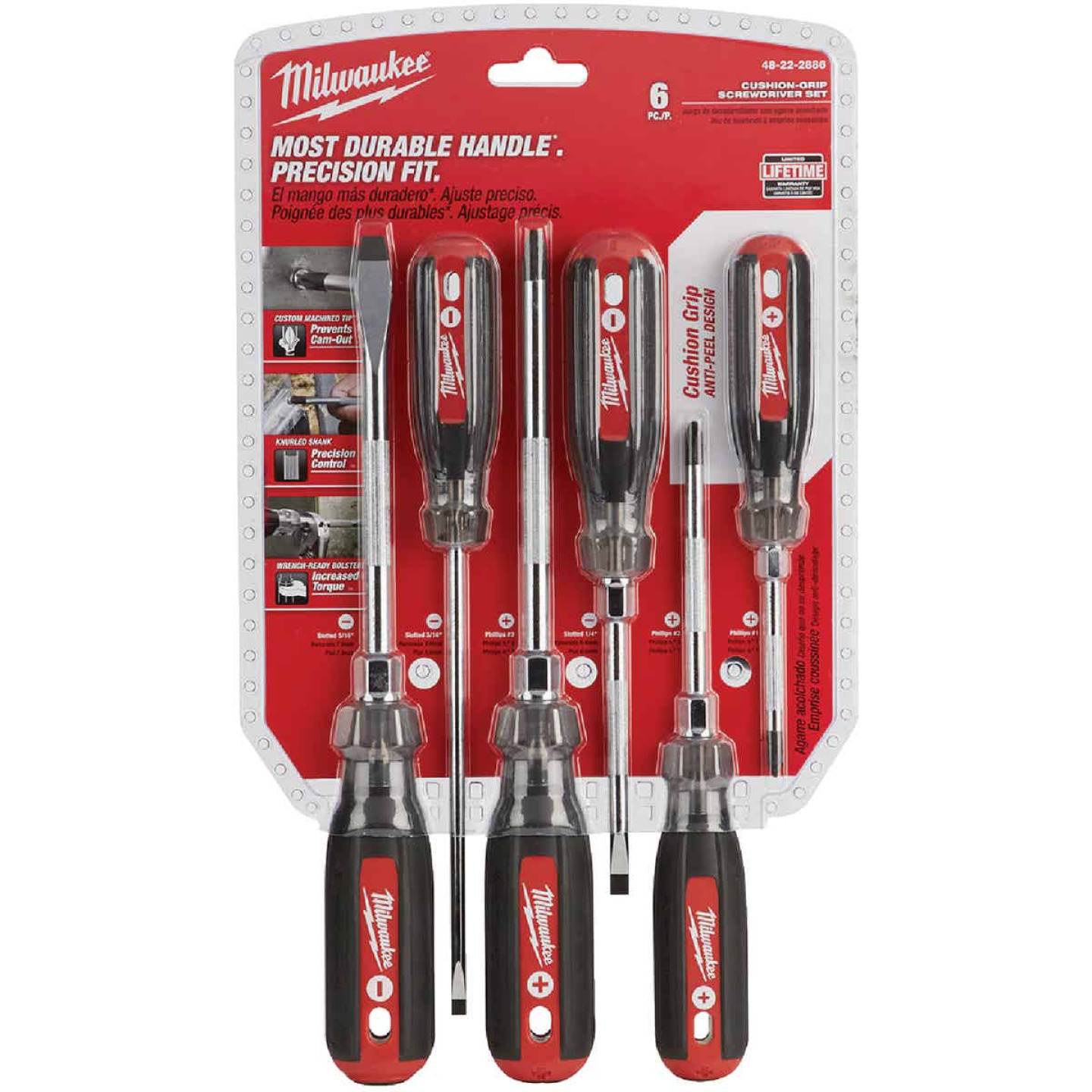 Milwaukee Cushion Grip Screwdriver Set (6-Piece) Image 2
