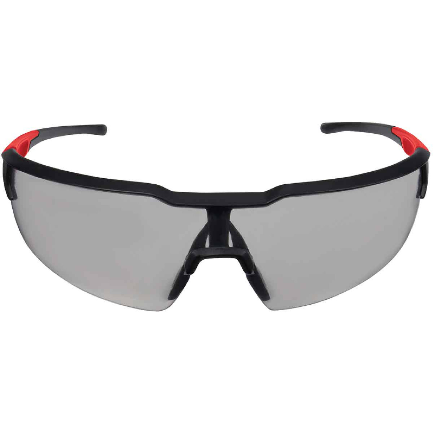 Milwaukee Red & Black Frame Safety Glasses with Gray Fog-Free Lenses Image 2