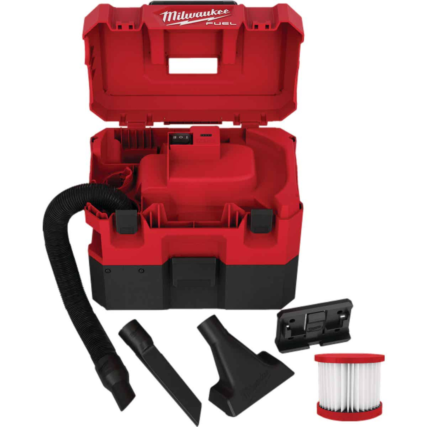 Milwaukee M12 FUEL 12 Volt Lithium-Ion Brushless Cordless 1.6 Gal. Wet/Dry Vacuum (Bare Tool) Image 2
