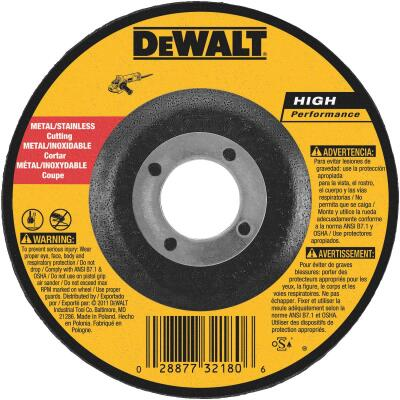 DeWalt HP Type 27 4 In. x 0.045 In. x 5/8 In. Metal/Stainless Cut-Off Wheel