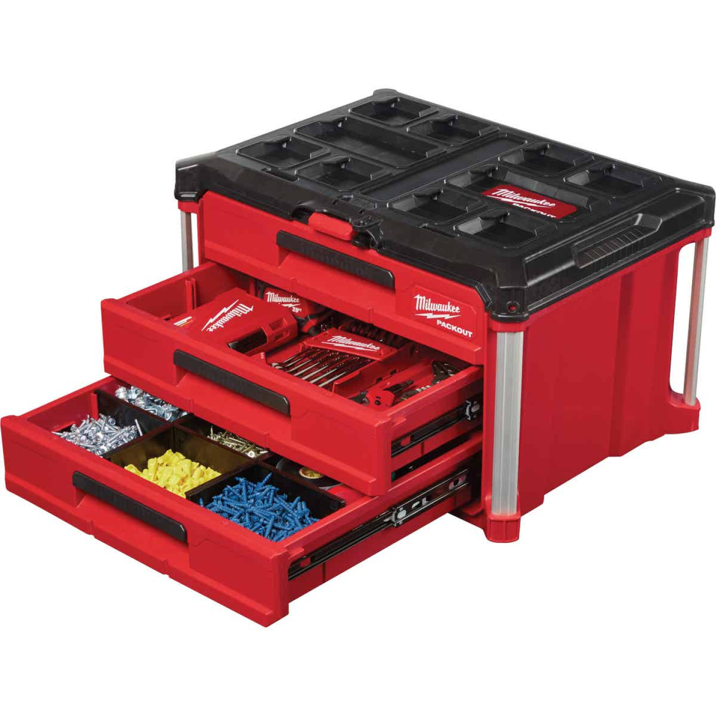 Milwaukee PACKOUT 3-Drawer Toolbox Image 4