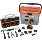 Black & Decker 20V MAX Lithium-Ion Cordless Drill/Driver & 63-Piece Hand Tool & Accessory Home Project Kit Image 1
