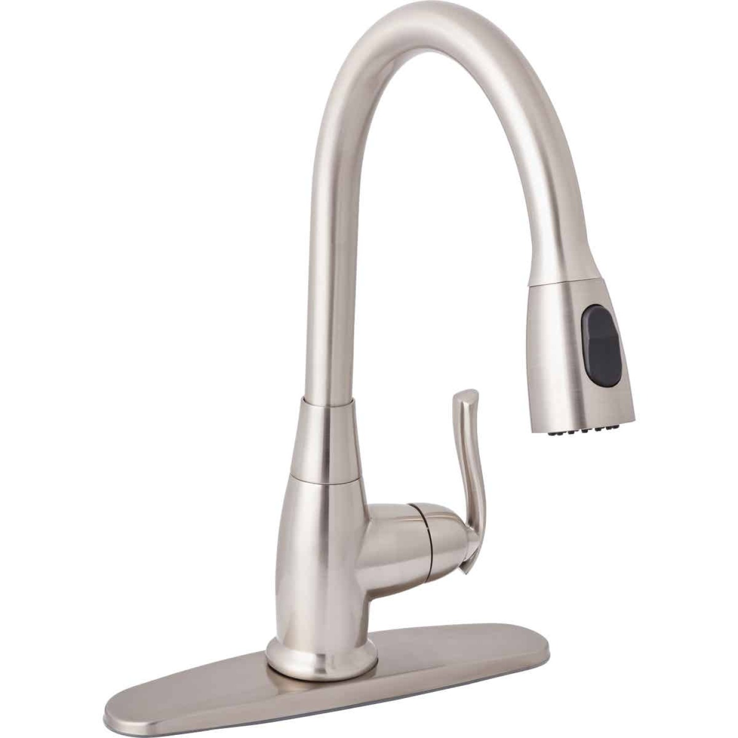 Home Impressions Single Handle Lever Pull-Down Kitchen Faucet, Brushed Nickel Image 1