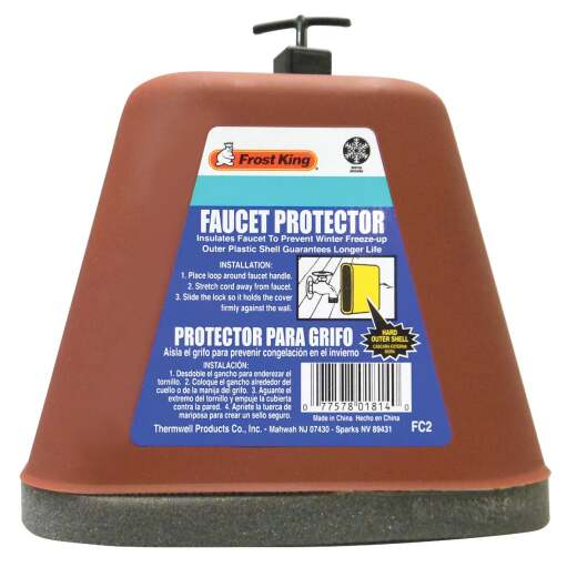 Frost King Plastic 6.5 In. Faucet Cover Freeze Protection