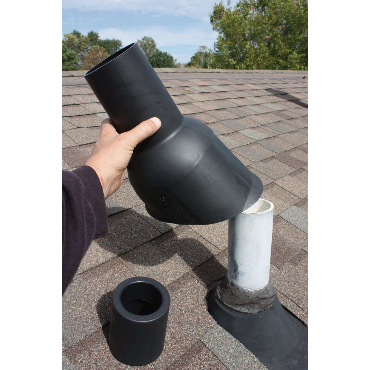 Perma-Boot 4 In. TPO Plastic Roof Pipe Flashing Image 3