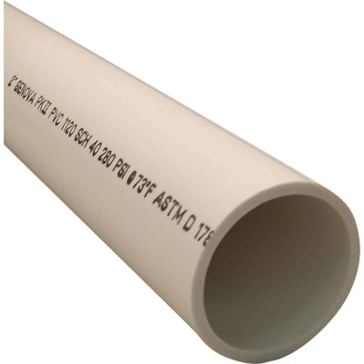 Charlotte Pipe 2 In. x 5 Ft. PVC DWV/Pressure Dual Rated Schedule 40 Pipe