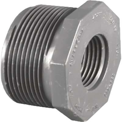 Charlotte Pipe 1-1/4 In. MPT x 1 In. FPT Schedule 80 Reducing PVC Bushing