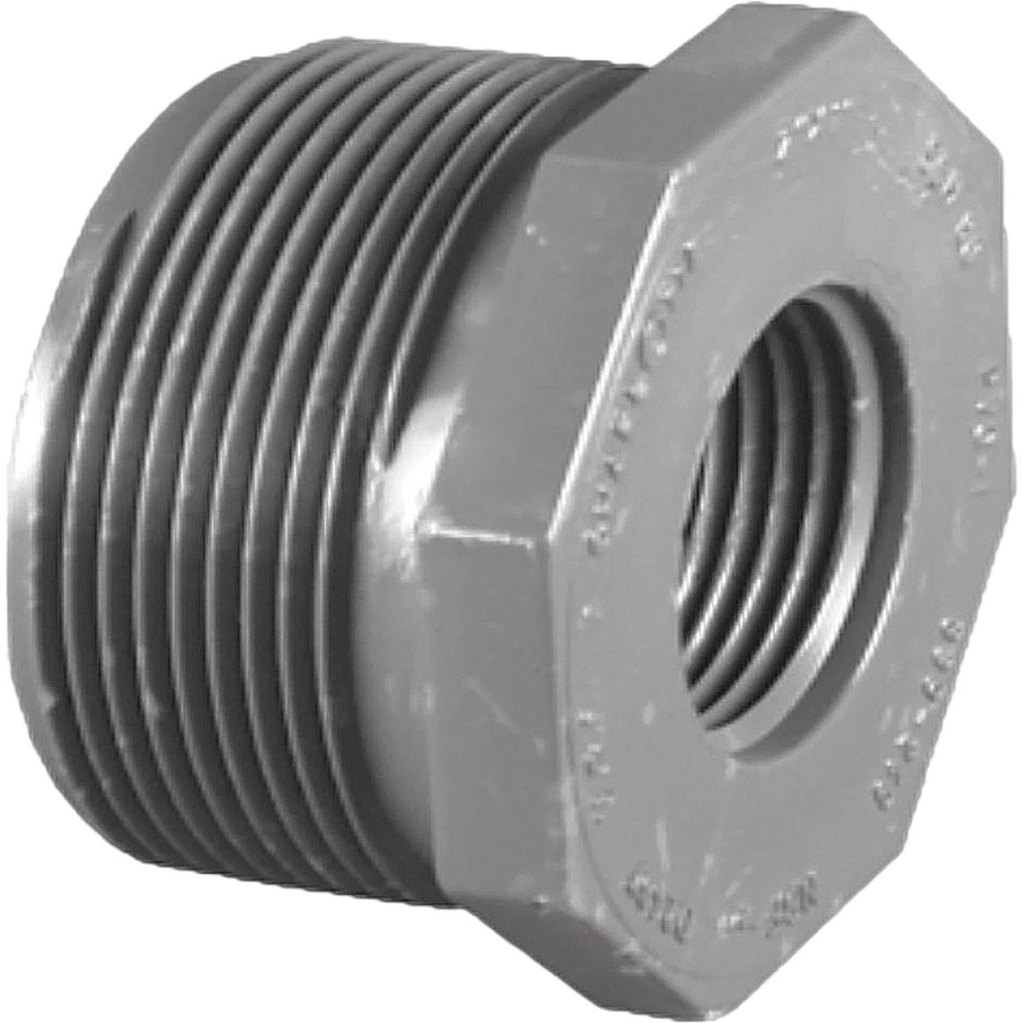 Charlotte Pipe 2 In. MPT x 1 In. FPT Schedule 80 Reducing PVC Bushing Image 1