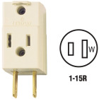 Leviton Ivory 15A 3-Outlet Cube Tap Image 1