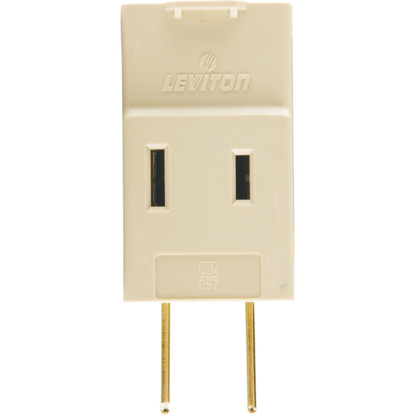 Leviton Ivory 15A 3-Outlet Cube Tap Image 2
