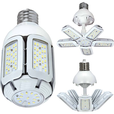 Satco Hi-Pro 60W Clear Corn Cob Mogul Base Adjustable Beam LED High-Intensity Light Bulb