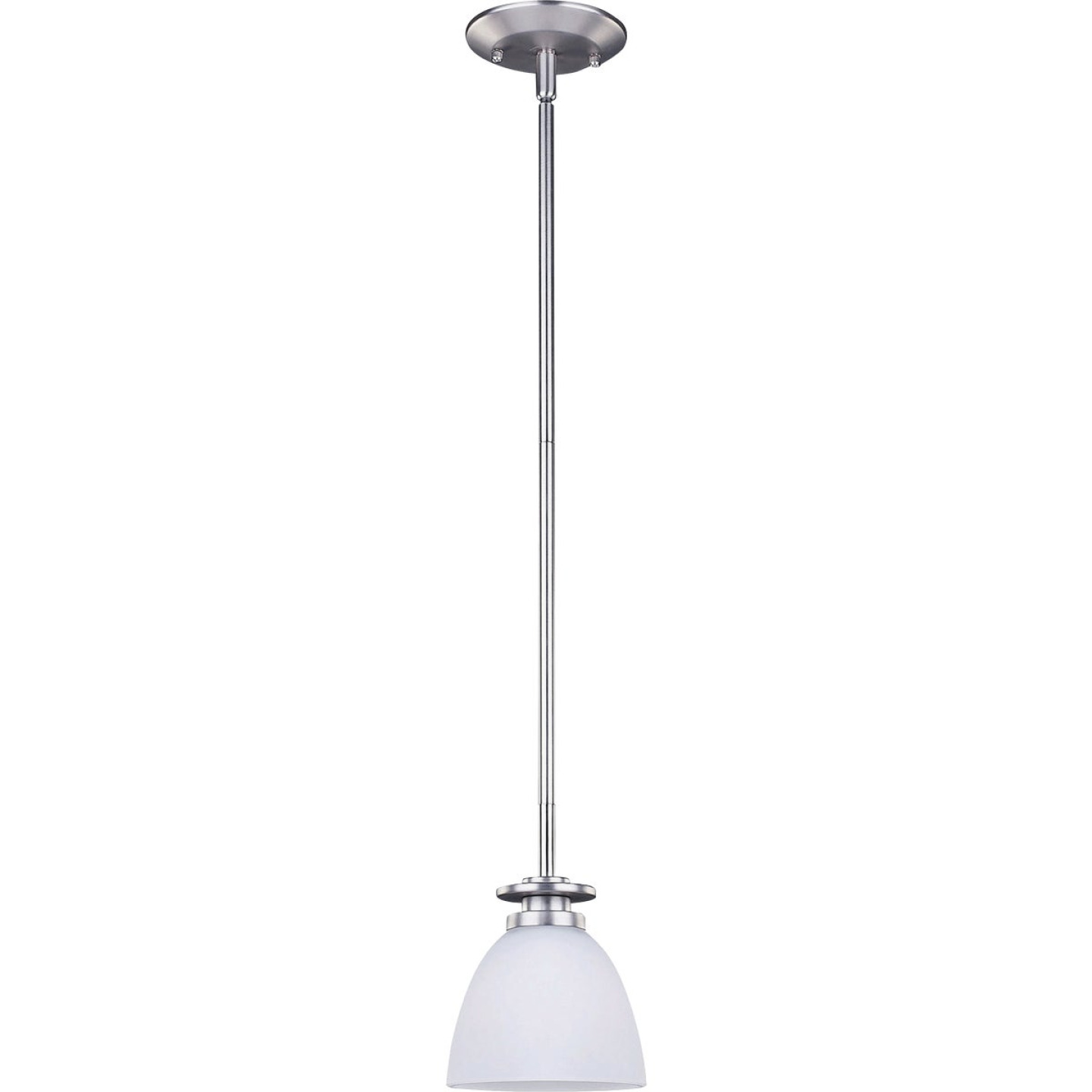 Home Impressions 1-Bulb Brushed Nickel Incandescent Pendant Light Fixture, Clear Glass Image 1