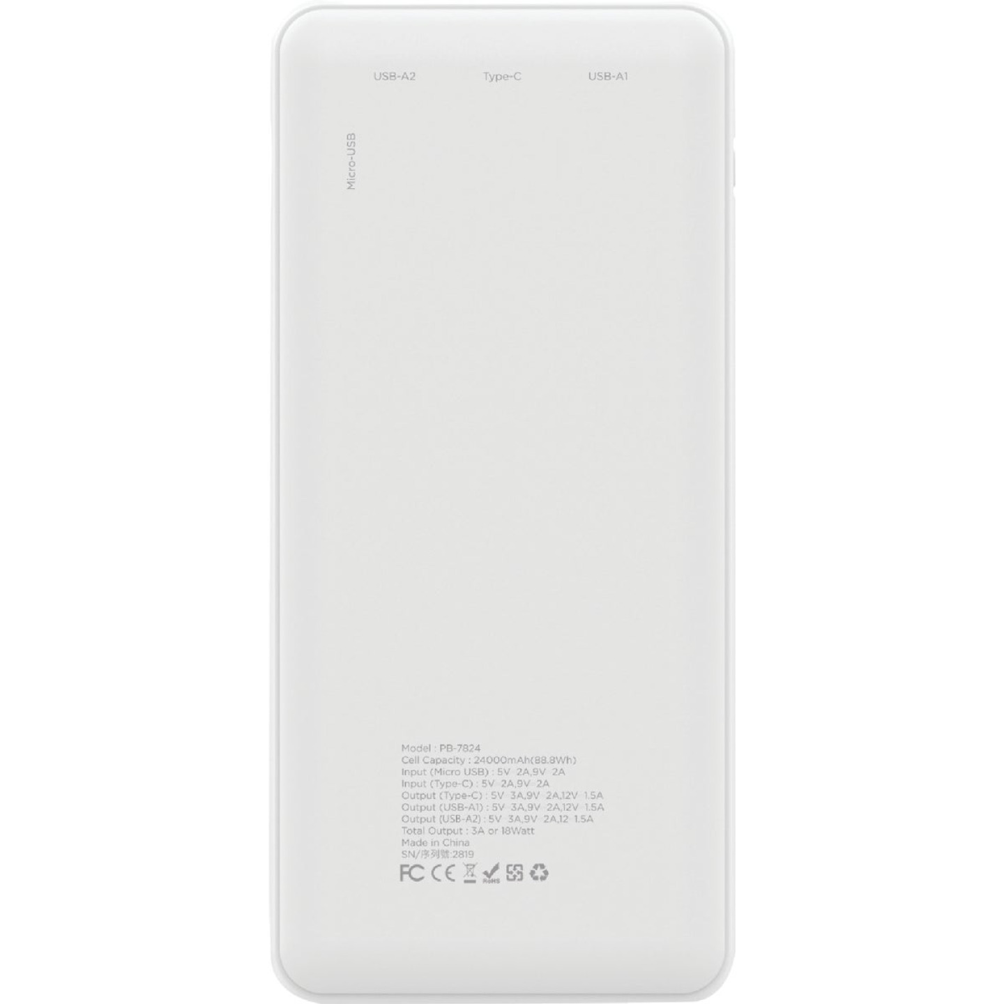 Gigastone 24,000 mAh Dual Port USB White Power Bank Image 4