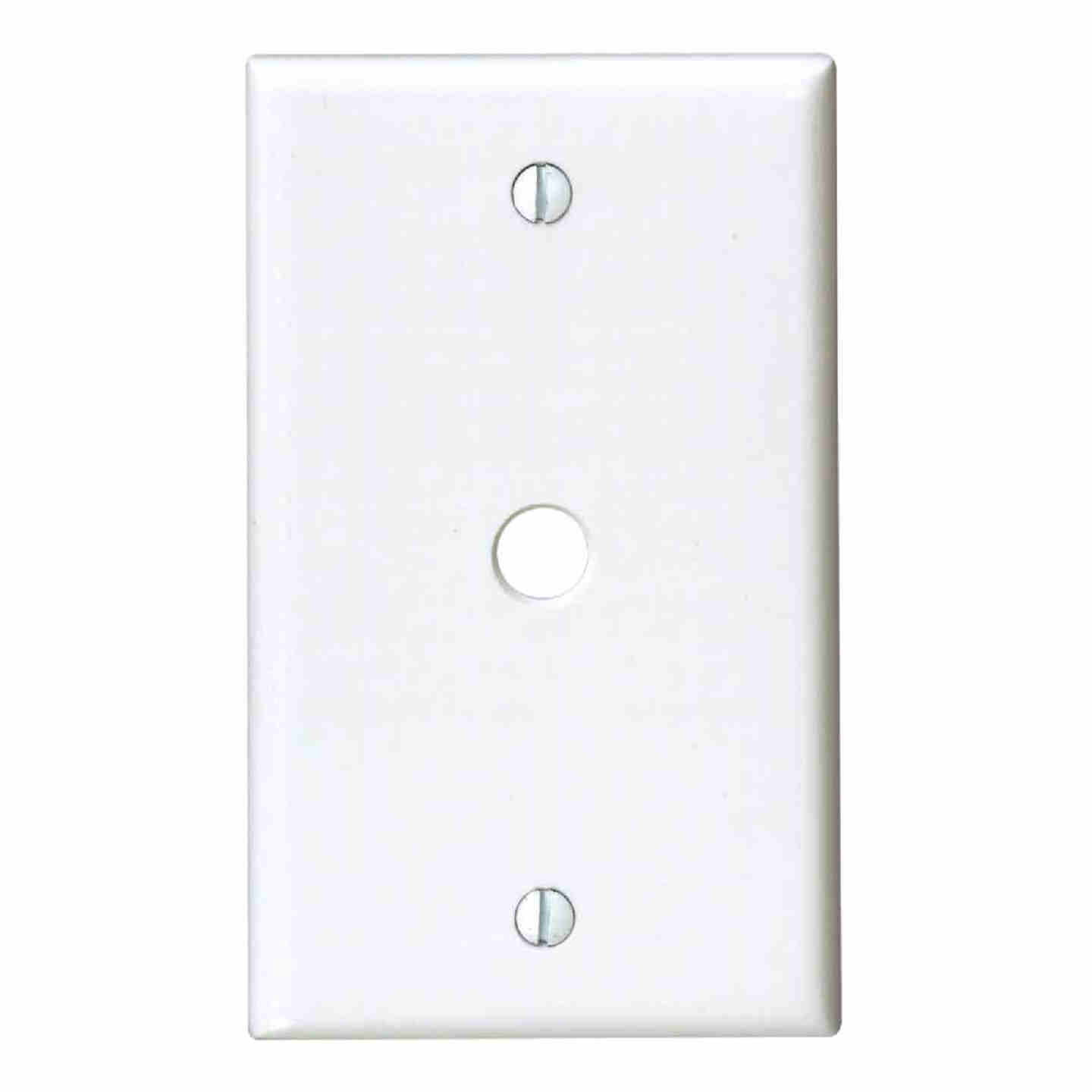 Leviton 1-Gang Plastic White Telephone/Cable Wall Plate with 0.312 In. Hole Image 1
