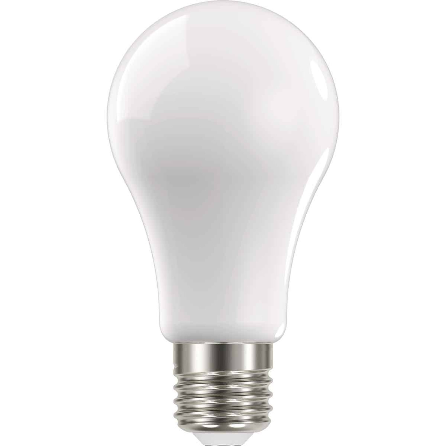 Satco Nuvo 100W Equivalent Warm White A19 Medium Frosted LED Light Bulb (4-Pack) Image 1