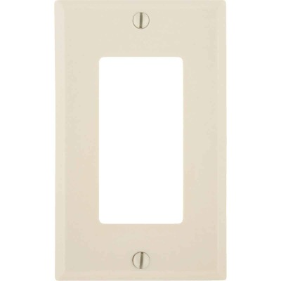 Leviton Decora 1-Gang Smooth Plastic Rocker Decorator Wall Plate, Light Almond